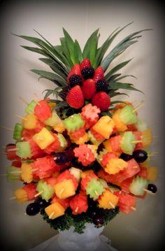 Yummy Tecture fruit kebab tree