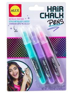 ALEX Toys Spa 3 Hair Chalk Pens Violet *** You can find more details by visiting the image link. Hair And Nails Vitamins, Vitamins For Skin, Vitamins For Women, Alex Toys, Chalk Pens, Hair Chalk, Kid Party Favors, Rocker Chic, Pen Sets