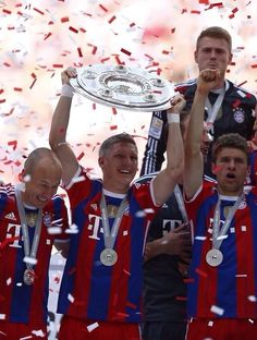 Arjen Robben, Bastian Schweinsteiger and Thomas Müller.