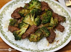 Delicious Beef And Broccoli Made At Home! ~ http://www.southernplate.com  http://www.southernplate.com/2016/01/beef-and-broccoli.html