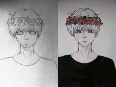 Drawing . Kaneki Ken . Tokyo Ghoul . Art