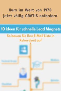 Mit diesen 10 Ideen für schnelle Lead Magnets baust du dir in Rekordzeit deine E-Mail-Liste auf. Jetzt gratis downloaden #quentn