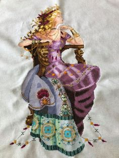 Sun Goddess (Mirabilia) stitched on 28 count Brittany, Ice Blue fabric from Julie's X Stitch. Cross Stitch Gallery, Blue Fabric, Needlework, Princess Zelda, Fictional Characters, Beautiful, Art, Embroidery, Art Background