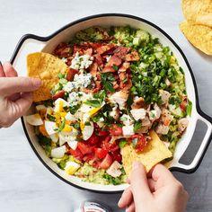 California Cobb Guacamole - Rachael Ray Every Day Guacamole, Healthy Chicken Recipes, Cooking Recipes, Feta, Super Bowl Dips, Healthy Superbowl Snacks, Quick Snacks, Tailgating Recipes, Vegan Snacks