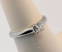 Tiffany 0.38ct F VS1 Lucida Diamond Engagement Ring Est. Retail $4000+ Size 5.0 #TiffanyCo #Solitaire