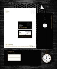 Manifest Stationery | Designer: Katie Kirk | #stationary #corporate #design #corporatedesign #logo #identity #branding #marketing <<< repinned by an #advertising agency from #Hamburg / #Germany - www.BlickeDeeler.de | Follow us on www.facebook.com/BlickeDeeler