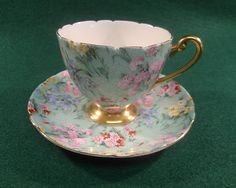 ★ Charming Shelley Melody Pattern Chintz Tea Cup Saucer Ripon Shape England | eBay
