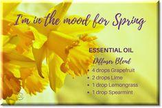 Springtime blend of essential oils for your diffuser