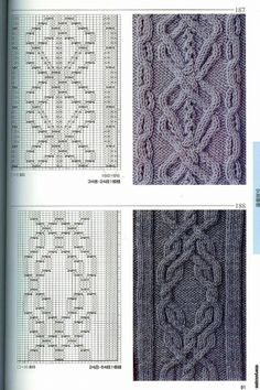 various knitting stitches with chart Cable Knitting Patterns, Knitting Stiches, Knitting Charts, Lace Knitting, Knitting Designs, Knitting Needles, Knit Patterns, Knitting Projects, Crochet Stitches