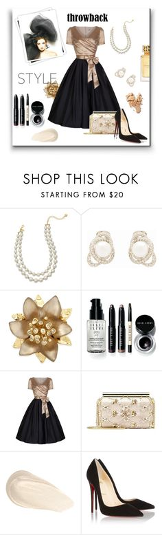 """""""1950's Party Dress"""" by tre0911 ❤ liked on Polyvore featuring GALA, Kate Spade, Kenneth Jay Lane, Alexis Bittar, Bobbi Brown Cosmetics, Oscar de la Renta, Christian Louboutin and Tory Burch"""