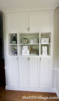 """built in"" pantry for the kitchen"