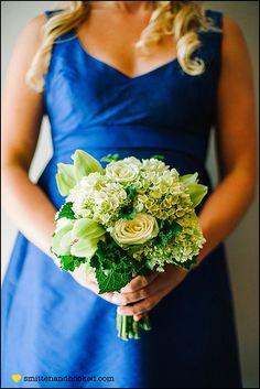 Bridesmaid bouquet...green and blue wedding ...kersten and tyler wedding | charlotte, nc | smitten & hooked_0048