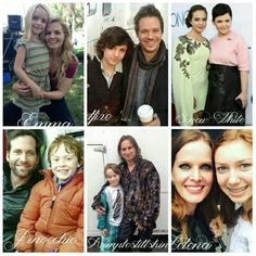 The cast and the actors who play the younger them.