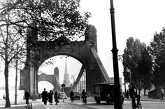 Most Cesarski, w tle ewangelicki Kościół Marcina Lutra