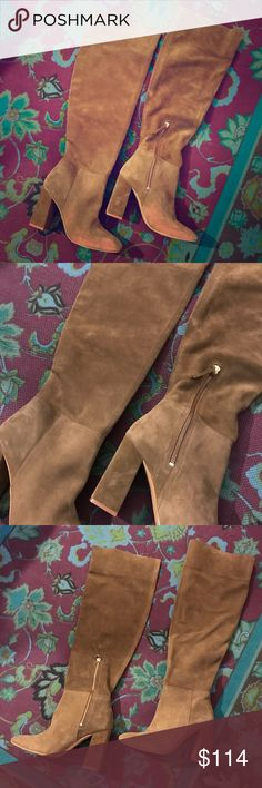 FREE PEOPLE Liberty Olive Suede Heeled Boots 39/9M Gorgeous boots by Free People, purchased at Nordstrom & never worn. Barely the slightest shop wear from being tried on indoors. Lost the original box so they'll ship in a replacement. Marked European size 39 & seems to run true to size, fitting the US equivalent of about an 8.5/9. Free People Shoes Heeled Boots
