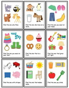 Feature and Function Task Cards by The Autism Helper Oral Motor Activities, Kids Learning Activities, Speech Therapy Activities, Language Activities, Articulation Activities, Sorting Activities, Play Therapy, Teaching Ideas, Preschool Speech Therapy