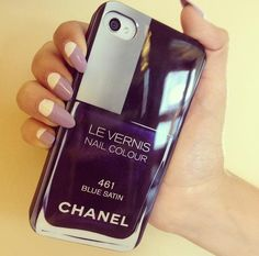 BUY HERE: http://www.glamzelle.com/products/chanel-nail-polish-iphone-case-blue-satin-261