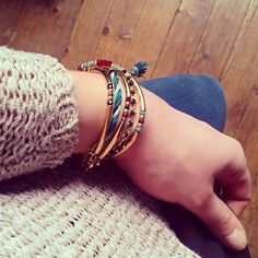 Bracelets Youh Youh Les Indiens #youhyouhlesindiens #aw1415 #bracelets