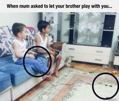 Playing Video Games With Your Little Brother