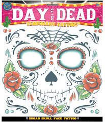 Costumes for All Occasions DFCT412 Tattoo Day of The Dead