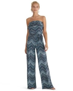 Strapless Printed Jumpsuit from White House | Black Market on Catalog Spree