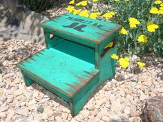 Personalized Two Step Stool kid's stool by WorkHorseFurniture