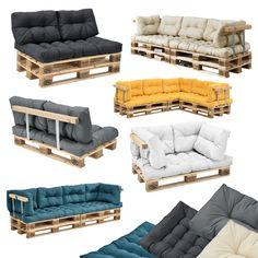 ® Palettenkissen In/Outdoor Paletten Kissen Sofa Polster Sitzauflage Pallet Furniture Pillows, Pallet Cushions, Pallet Garden Furniture, Diy Pallet Sofa, Wooden Pallet Projects, Balcony Furniture, Wood Sofa, Cushions On Sofa, Pallet Bank