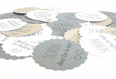 Gift tag label day round SCHÖN that you are there! white * Wedding * Baptism * Birthday * Birth * Co Cloth Napkins, Handmade Design, Gift Bags, Decorative Items, Special Day, Digital Prints, Place Card Holders, Tags, Etsy