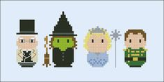 Wicked The musical parody Cross stitch PDF by cloudsfactory