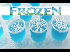 HowToCookThat : Cakes, Dessert & Chocolate | Disney Frozen Snowflakes Jelly Cups - HowToCookThat : Cakes, Dessert & Chocolate