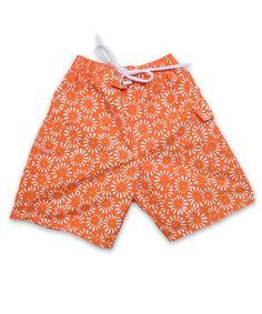 Swim Trunks in Aurora Floral Orange