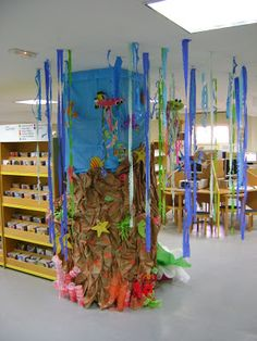 Image 4 of under the sea classroom decorations . Ocean Theme Decorations, Classroom Decor Themes, School Decorations, Ocean Themes, Ocean Room, Ocean Party, Under The Sea Theme, Class Decoration, United Nations