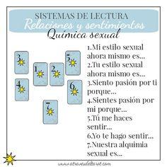 Tirada de tarot útil para explorar el ámbito sexual y sentimental de una pareja.                                                                                                                                                                                 Más