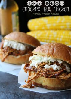 The Best Crockpot BBQ Chicken - Family Fresh Meals -