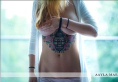 J'adore. #ribcage #tattoo I love the black in the middle and the pretty colours around the outside