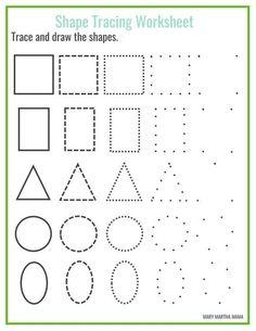Shapes Worksheets for Kids | AllFreePaperCrafts.com