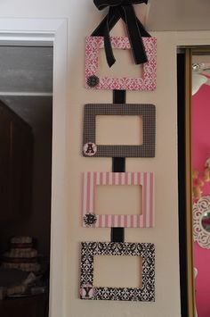 Would be a great baby shower gift, done with colors/patterns from their nursery.