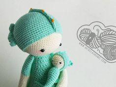 Sepp el caballito de mar muñeco de ganchillo hecho con el patrón de Lalylala Crochet amigurumi  www.desdelasnubes.com