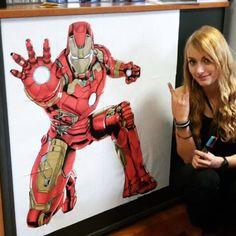 Des fois je m'ennuie, alors j'attaque les feuilles de brouillon au posca.  #posca  #ironman #dessin #dessingeant Iron Man, Posca, Deadpool, Creations, Superhero, Fictional Characters, Art, Leaves, Drawing Drawing