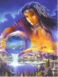 The Mother earth  The element of Earth is associated with introspection, seeing and receiving answers from within. Intuition enhances by being in the nature, walking on Mother Earth.    Qualities of Earth are nurturing, stability, grounding, solidity, manifestation