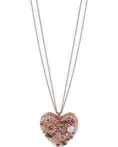VINTAGE HEART PENDANT PINK accessories jewelry necklaces fashion