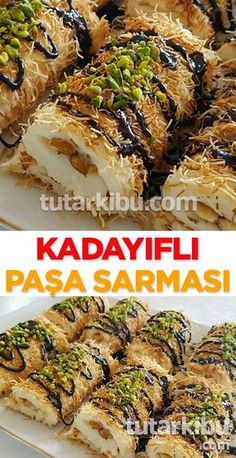 Kadayıflı Paşa Sarması - Dock Tutorial and Ideas Yummy Recipes, Wrap Recipes, Lunch Recipes, Pasta Recipes, Sweet Recipes, Delicious Desserts, Dessert Recipes, Yummy Food, Turkish Recipes