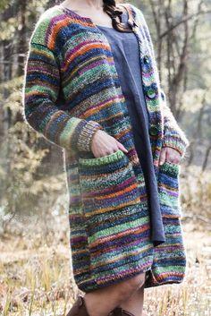Crochet Jacket Pattern, Crochet Coat, Crochet Shawl, Crochet Clothes, Joining Yarn Knitting, Knitting Socks, Hippie Tops, Knit Jacket, Baby Knitting Patterns