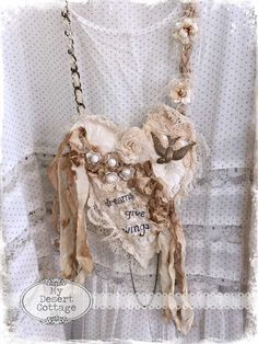 **My Desert Cottage**: Textile Art Necklaces