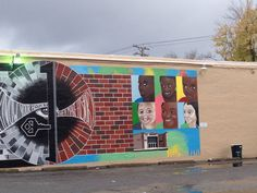 Color side of Sundiata Rshid mural on 3rd St.in Lexington, KY