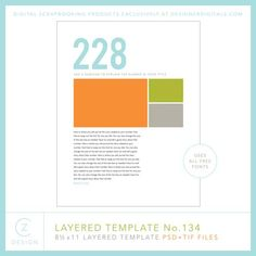 Document a number in your life | CZ Design Layered Template No. 134