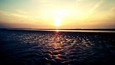 Evening run on the beach