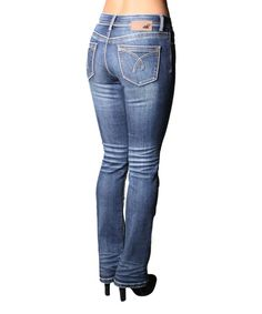 This Medium Wash Lauren Stretch Bootcut Jeans - Women by Lola Jeans is perfect! #zulilyfinds