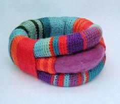 <3 Crocheted bracelet.