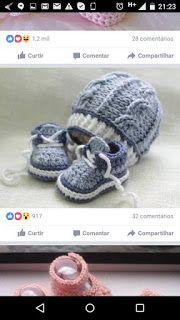 Sandra Roque Artesanatos: gorro e touca azul bebê